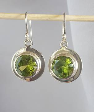 Sterling silver green earrings - the colour of nature