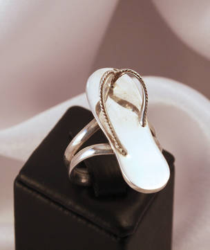 Seriously fun - silver jandal ring
