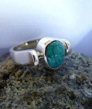 Sterling silver turquoise ring | December Birthstone