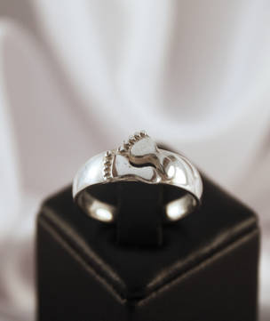 Sterling Silver Ladies Foot Ring