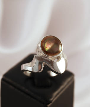 Sterling silver 925 shell ring - NZ made