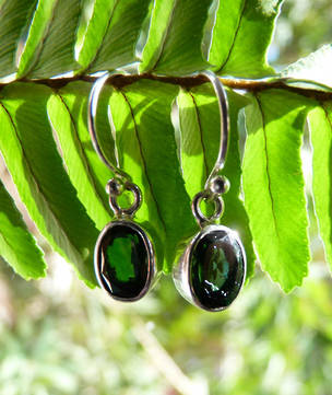 Green Quartz Earrings